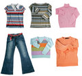 Set of color women clothes Stock Photo