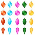 Set of color Xmas balls. Christmas decoration isolated on white background