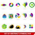 Set of colored abstract symbols Royalty Free Stock Images