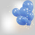 Set of colored balloons illustration eps Stock Images