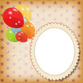 Set of colored balloons, vector illustration. EPS Royalty Free Stock Photos