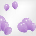 Set of colored balloons vector illustration eps Royalty Free Stock Photos