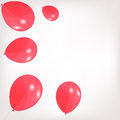 Set of colored balloons vector illustration eps Stock Image