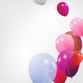 Set of colored balloons vector illustration eps Stock Photography