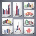 Set of colored barcode stickers made in the country Royalty Free Stock Images