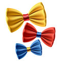 Set of colored bow ties Stock Images
