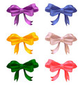 Set of colored bows Royalty Free Stock Photos