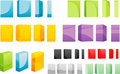 Set of colored box Royalty Free Stock Photography