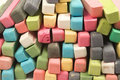 Set of colored chalk Royalty Free Stock Photo