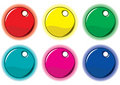Set of colored circle labels for your design. Stock Photos