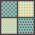 Set of colored dotted patterns. Royalty Free Stock Image
