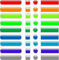 Set colored empty web button Royalty Free Stock Photography