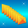 Set colored envelopes web designers various necessities projects Royalty Free Stock Photography