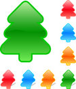 Set of colored fir Royalty Free Stock Image