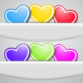 Set of colored hearts Stock Images