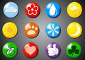 Set of colored icons Royalty Free Stock Photo
