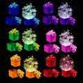 Set of colored magic boxes for all occasions open and closed Stock Image