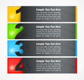 Set of colored number banners on white vector illustration Royalty Free Stock Photo