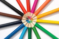 Set of colored pencils Royalty Free Stock Images