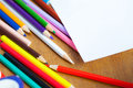 Set of colored pencils Royalty Free Stock Photo