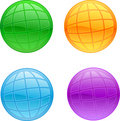 Set of colored planets Royalty Free Stock Photo