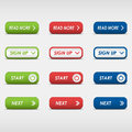 Set of colored rectangular buttons eps Stock Photography