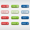 Set of colored rectangular web buttons eps Royalty Free Stock Photography