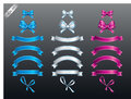 Set of colored ribbon and bow or banners for your text Royalty Free Stock Photo