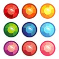 A set of colored round gems Royalty Free Stock Photo