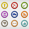 Set of colored round web icons template vector eps Royalty Free Stock Photography