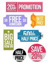 Set of colored sale coupon vouchers Royalty Free Stock Photo