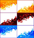 Set of colored splashes Stock Photo
