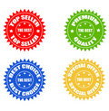 Set of colored stickers Stock Photo