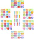 Set of colored sticky notes big various Stock Photo