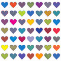 Set of colored stylized hearts Royalty Free Stock Photos