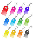 Set of colored tags. Royalty Free Stock Photography