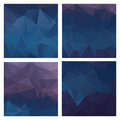 Set of colored vector patterns in geometric style
