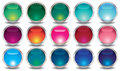 Set of colored web buttons this is file eps format Stock Photography
