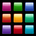 Set of colored web icons various colors on a black background Stock Photo