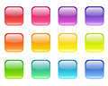 Set of colored web icons various colors on a white background Stock Image