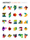 Set of colorful abstract geometric shapes Royalty Free Stock Photo