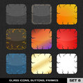 Set colorful app icon frames templates buttons set vector Royalty Free Stock Photography
