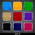 Set colorful app icon templates buttons backgrounds set vector Royalty Free Stock Photography