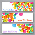 Set of colorful balloon banners for your design Royalty Free Stock Photo
