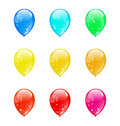 Set colorful balloons isolated on white background Royalty Free Stock Photography