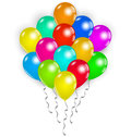 Set colorful balloons on white background illustration Stock Images