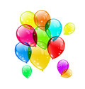 Set colorful balloons on white background for your illustration holiday vector Royalty Free Stock Photo
