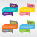 Set of colorful banners vector illustration Stock Photo