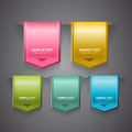 A set of colorful bookmarks labels stickers or indicators Royalty Free Stock Images