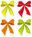 A set of colorful bows Royalty Free Stock Photos